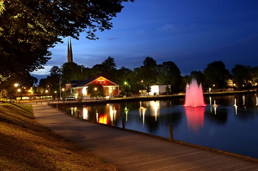 Växjö in the evening