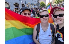 Oskar, Jenny and Lena at Sthlm Pride 2019! Yey!