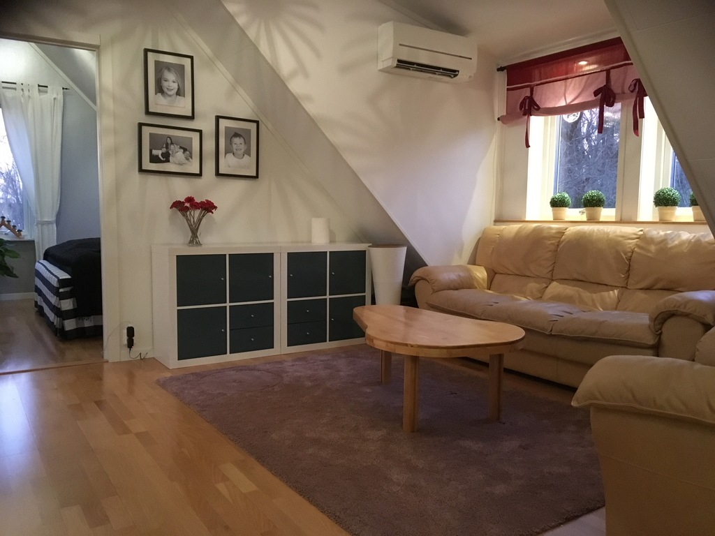 Upstairs living room with TV and DVD