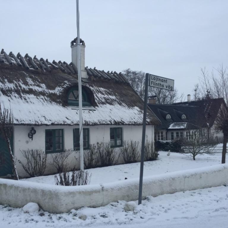Winter in nearby village Böste