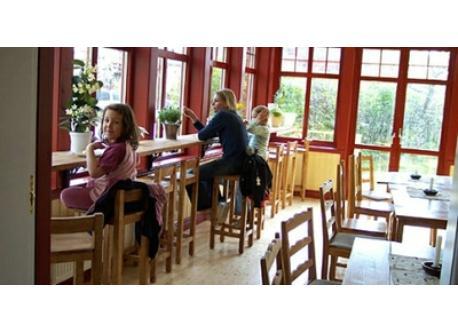 Café Skrädderiet is our favorite cafe. in the middle of Kinna centrum