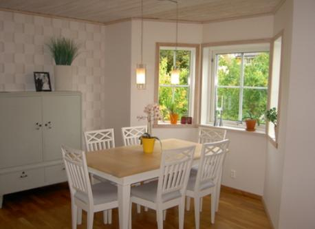 Dining area with view of the garden