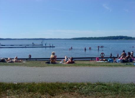 Bredsand, our bath in the  lake Mälaren.
