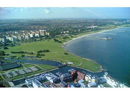 Malmö beach from the air