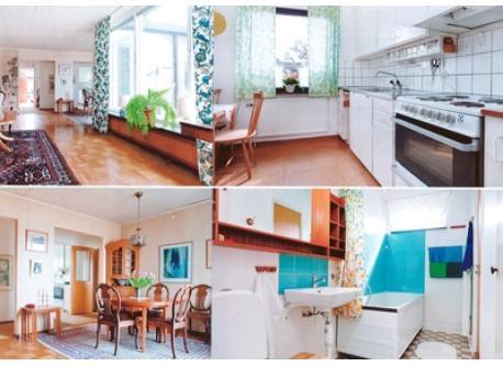 Interior kitchen, bath and diningroom