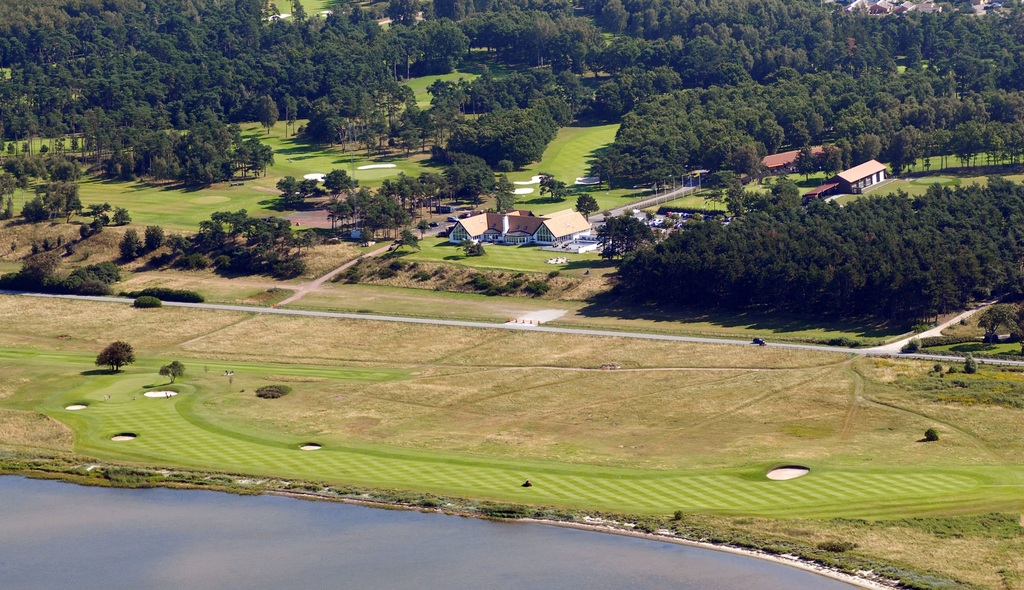 Arial view of clubhouse