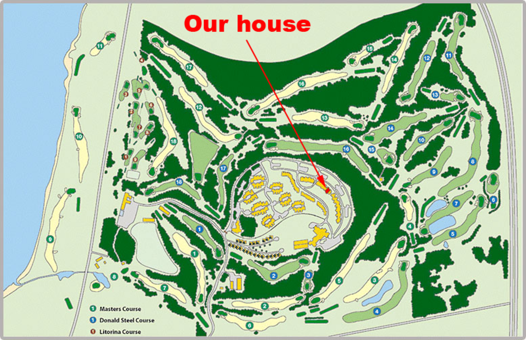 Barsebäck Golf & Country Club, course layouts