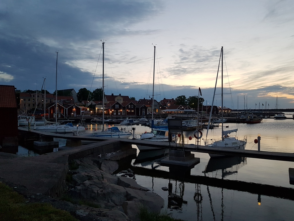 the harbour in Öregrund