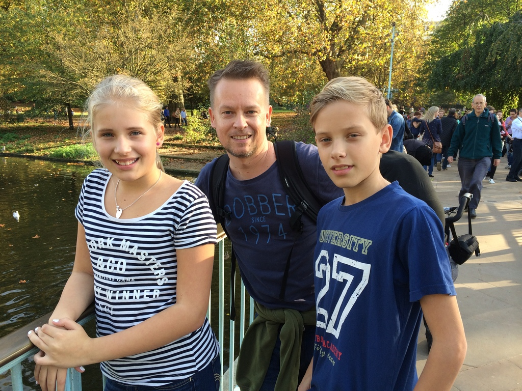 Filippa, John and Pontus in London 2014