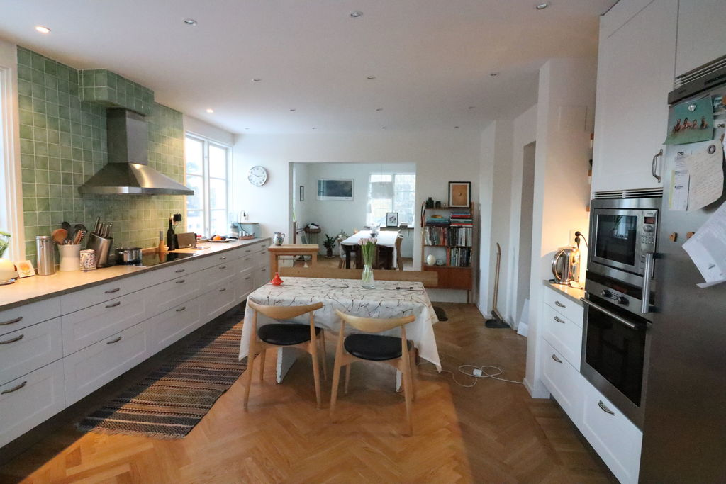 Large modern kitchen very well equipped with all modern appliances