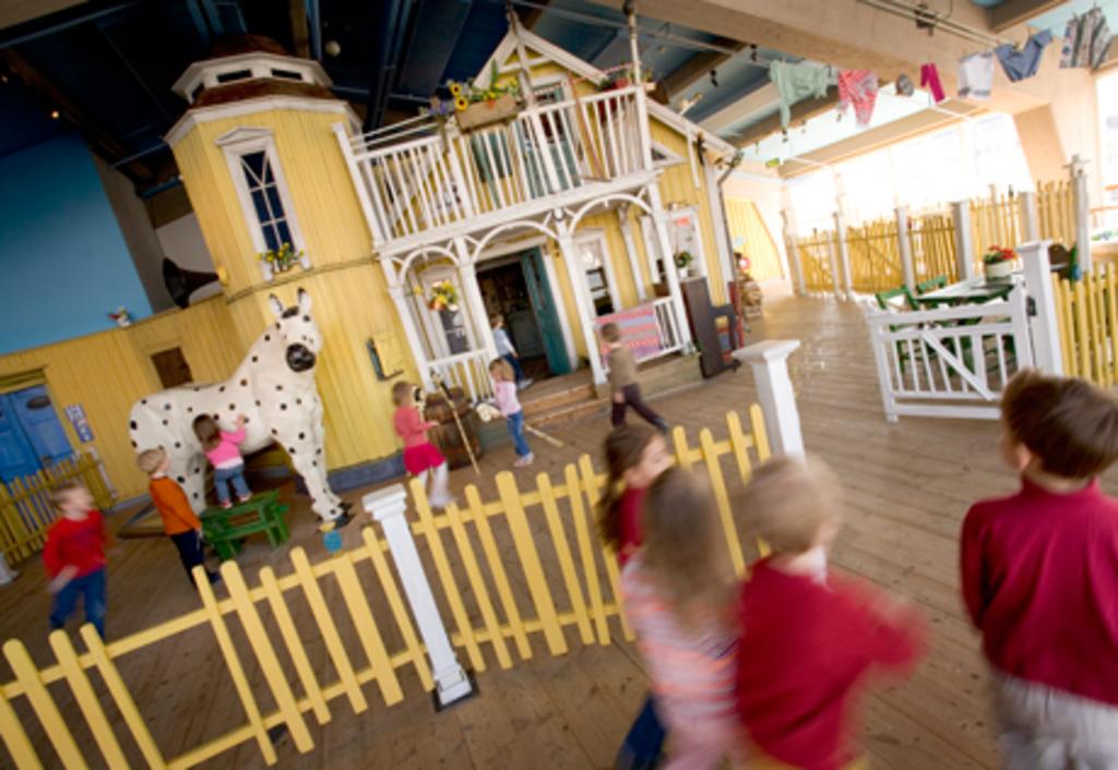 Pippis house at Astrid Lingren child museum Junibacken