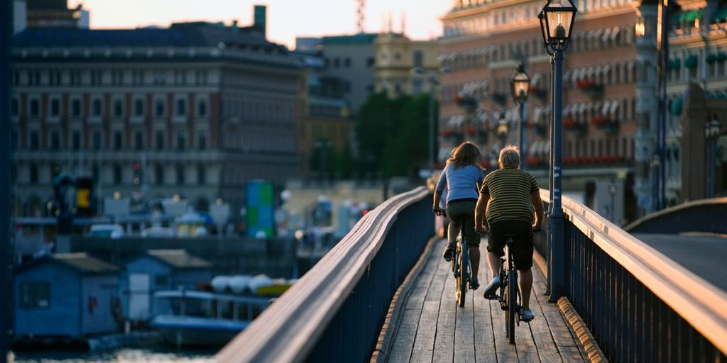 Biking is our prefered way to get around town