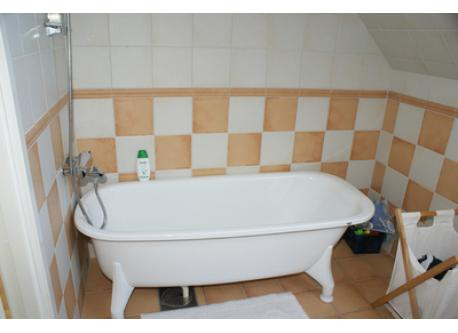Bathtub in bathroom on 2 floor