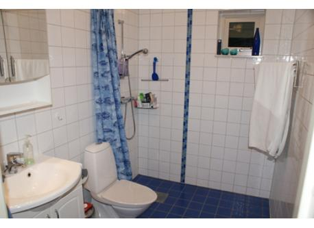 Bathroom with shower on first floor