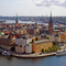Old town and Riddarholmen.