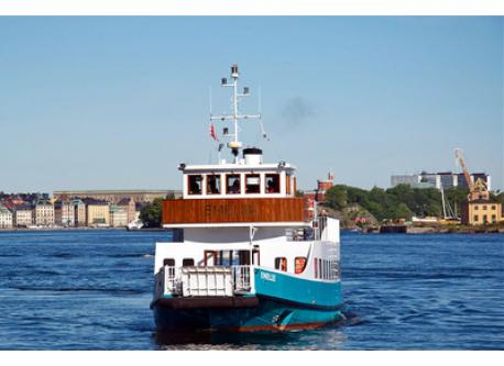You can take the boat to many attractions in Stockholm.