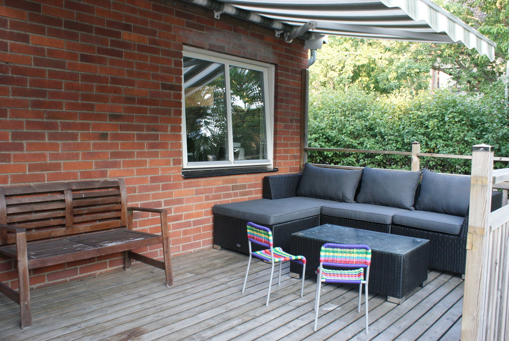Lounge area outside
