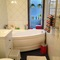Childrens bathroom with bathtub