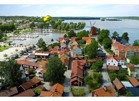 View over central Strängnäs