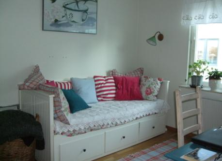 Bedroom on second floor with fold-out sofa. Can sleep two.