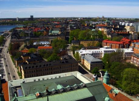 View over Kungsholmen from the City Hall tower.
