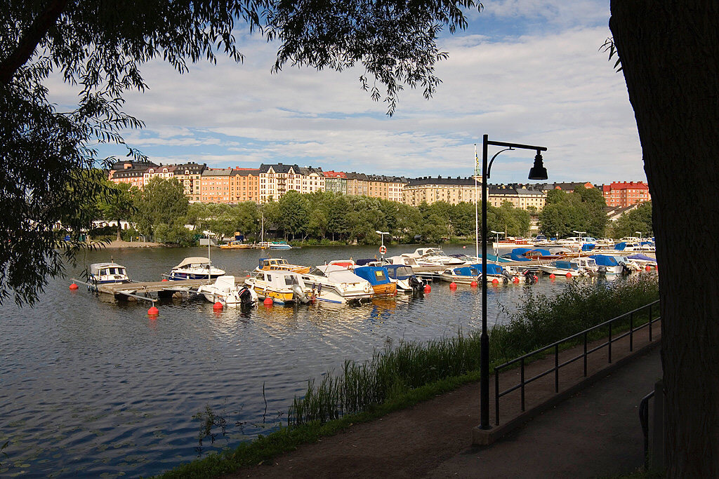 One of the marinas in the canal