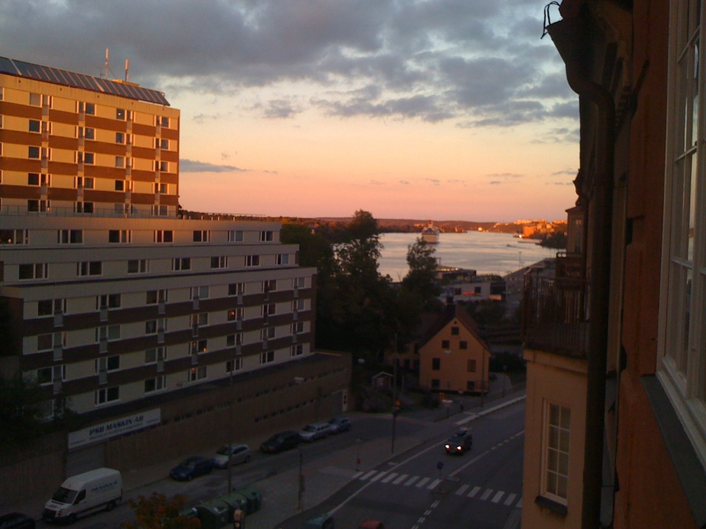 View from our apartment towards the archipelago.