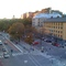View from our apartment towards Stigbergsparken, a small park with a playground.
