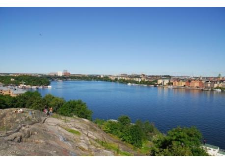 The park and the small mountain on which we live - it's the highest location in Stockholm city