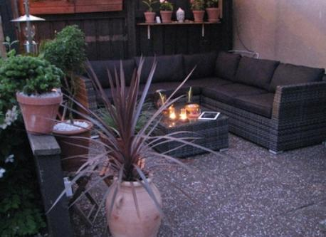 Lounge area in the garden