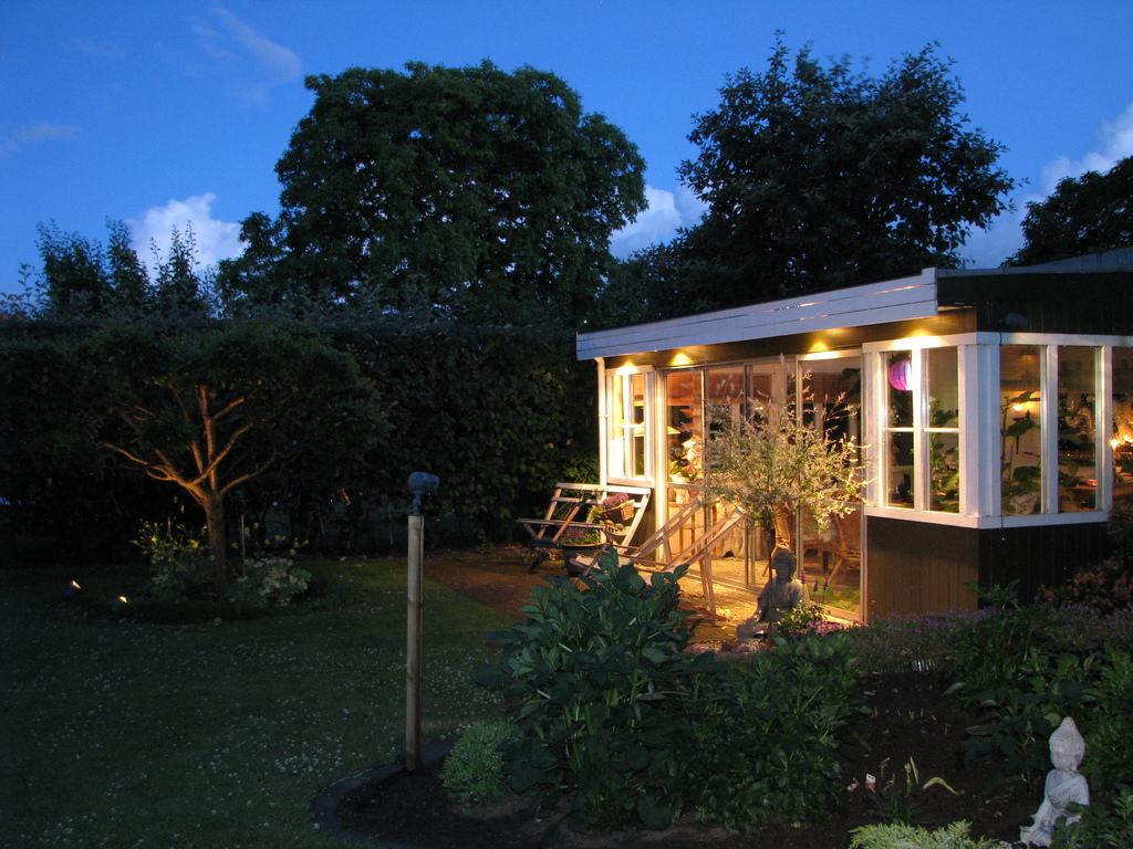 Our garden house, midsummer night around 22.45, there is something special with summer nights in Sweden!