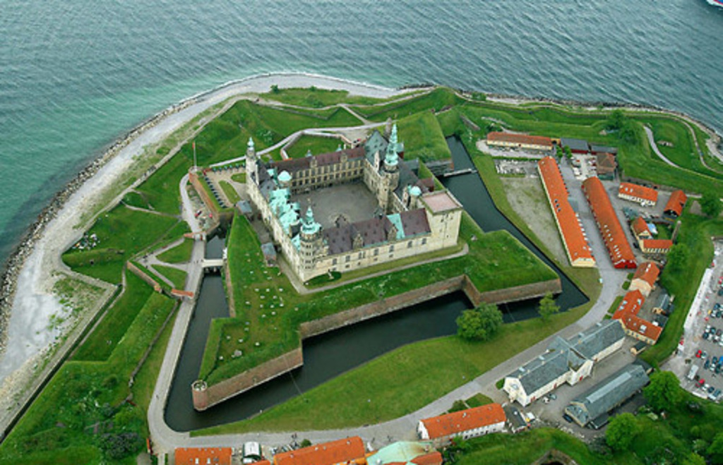 The stage setting for Shakespeare's Hamlet Kronborg castle just a short trip away