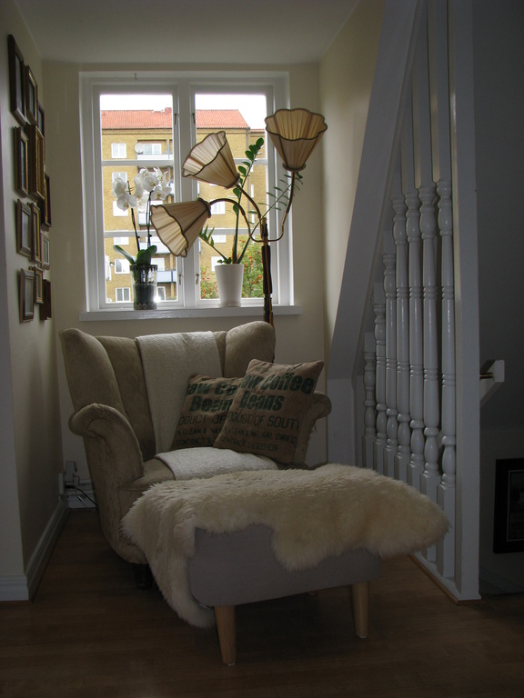 Reading corner on second floor