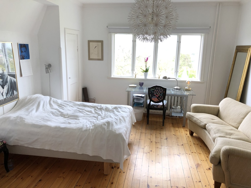 bedroom with two beds second floor