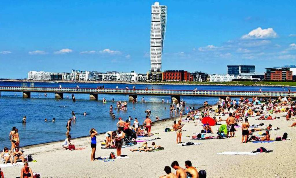 Ribersborg is a city beach in Malmö
