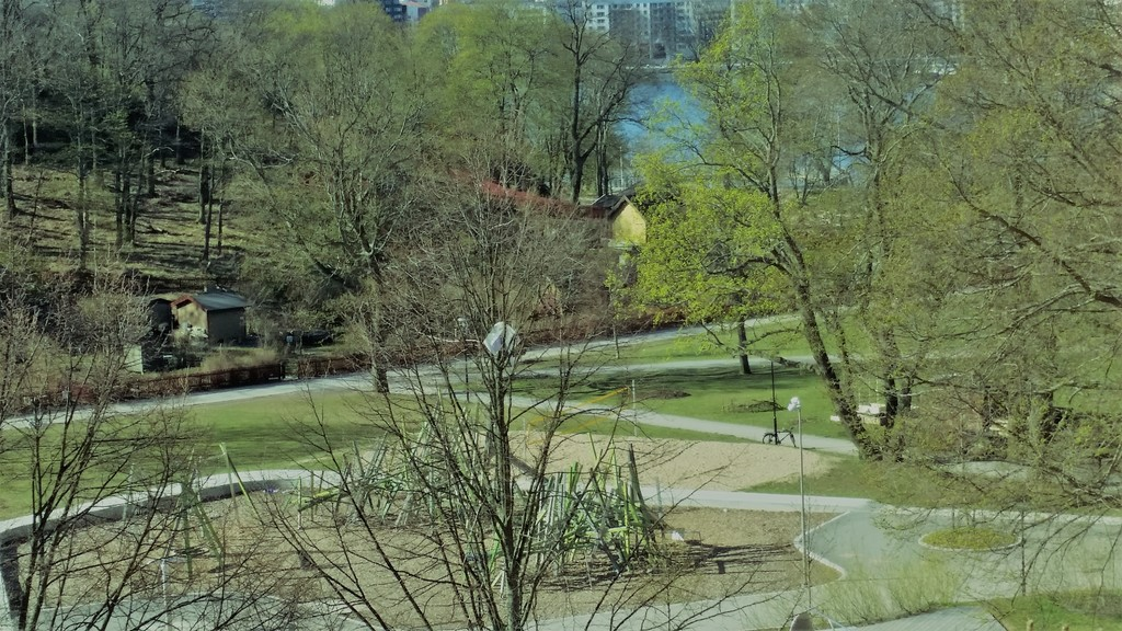 Playground and waterway from our window