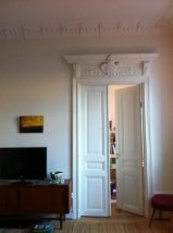 Beautiful original 1890 double doors between livingroom and one bedroom