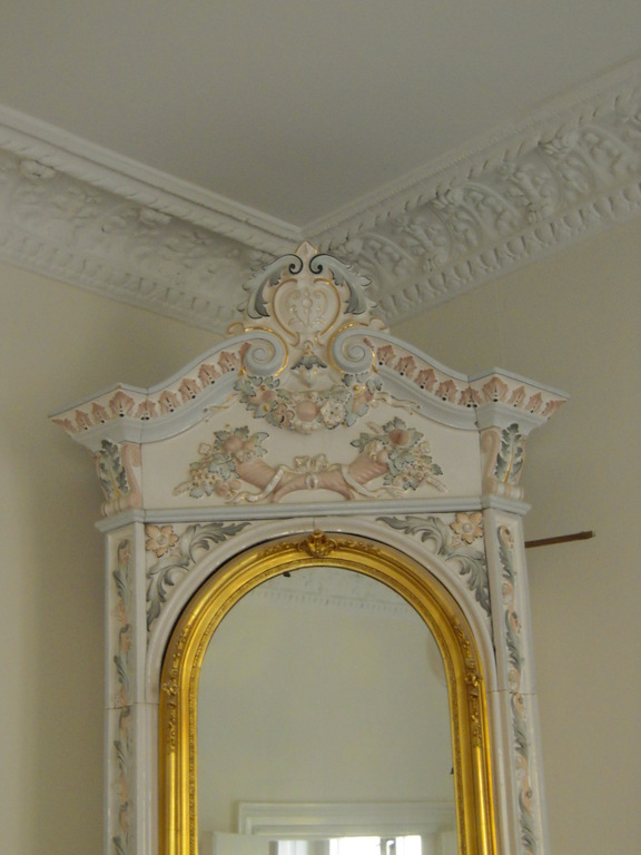 Beautiful details on one of four original fireplaces