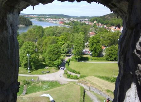View of kungalv from the castle in Kungälv centrum