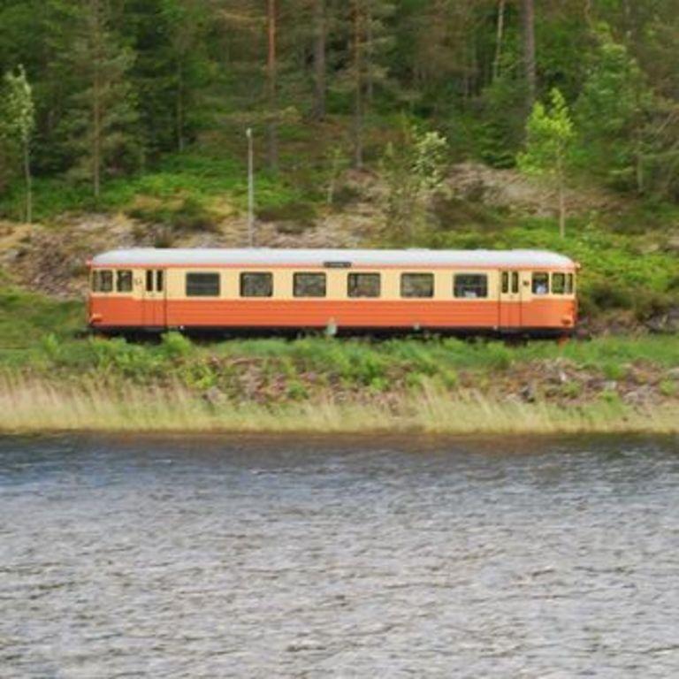 Narrow gauge railway between Hultsfred and Västervik.