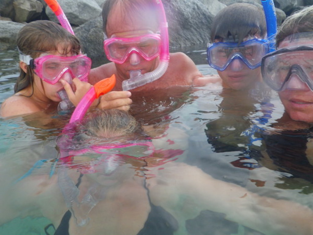 Our family Snorkeling in Florida