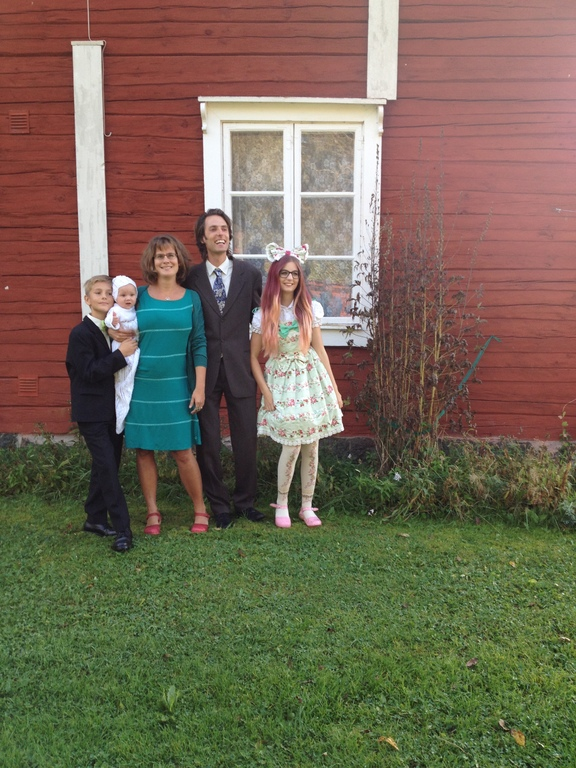 The family at Nella's baptism, Oct 2014