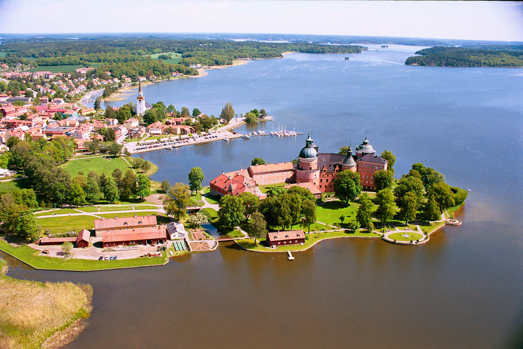 Castle Gripsholm (16th century) in Mariefred.