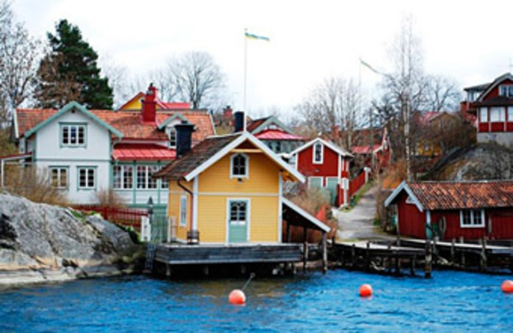 Fishing village, Vaxholm, about 25 minute's by car from our house