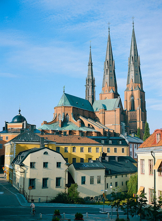 The cathedral in Uppsala