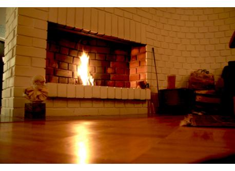 Fireplace in livingroom
