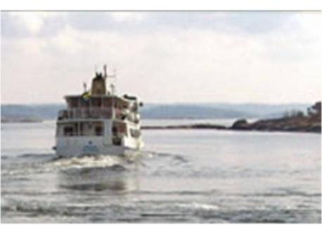 Ferry boat in the archipelago