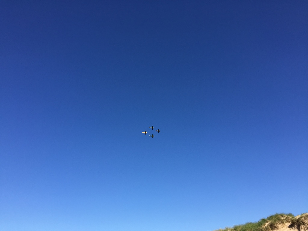 Air show on a summer day