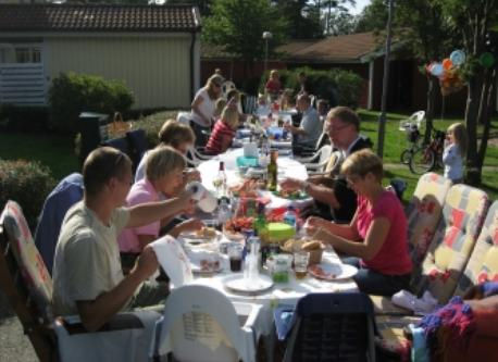 Summerparty with our neighbours