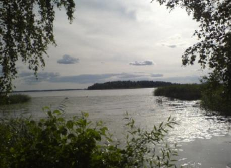 Lake Mälaren, only one km away from our house.